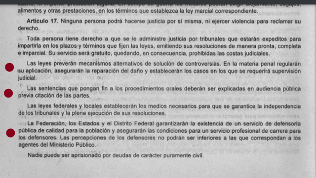 2da Reforma articulo 17