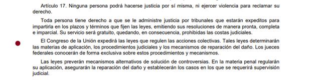 3ra Reforma articulo 17