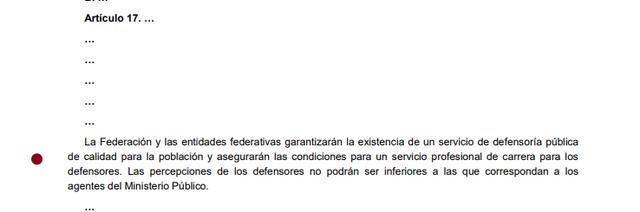 4ta Reforma articulo 17