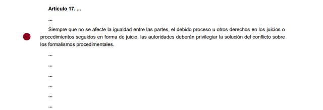 5ta Reforma articulo 17
