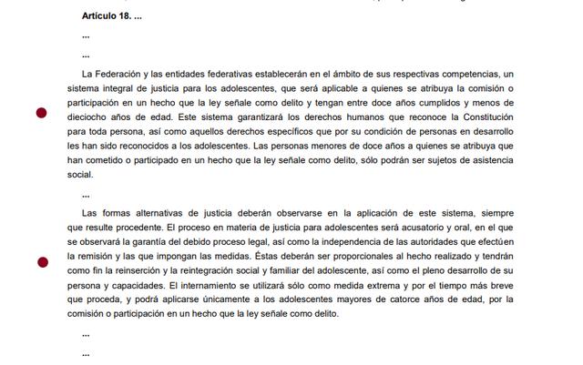 7ma Reforma articulo 18