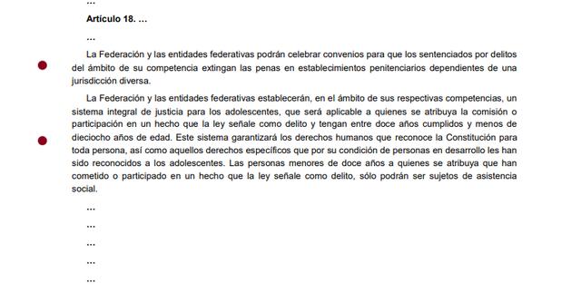 8va Reforma articulo 18