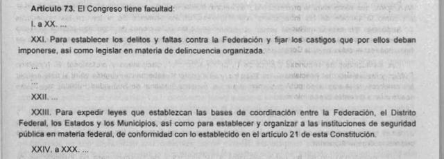 57a Reforma articulo 73