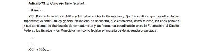 60a Reforma articulo 73