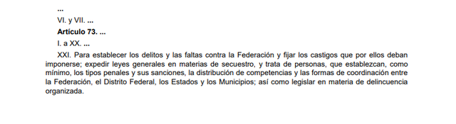 61a Reforma articulo 73