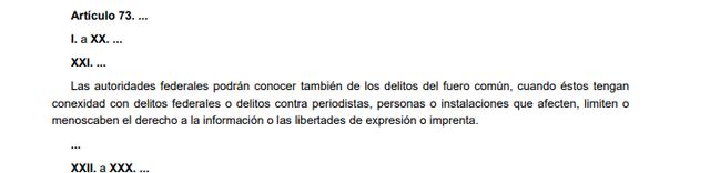64a Reforma articulo 73