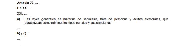 71a Reforma articulo 73