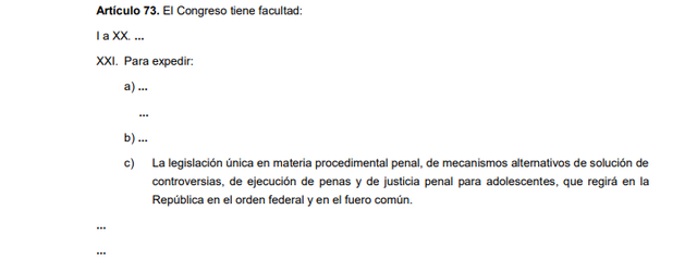 74a Reforma articulo 73