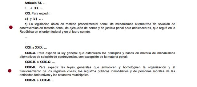 78a Reforma articulo 73