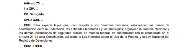 81a Reforma articulo 73