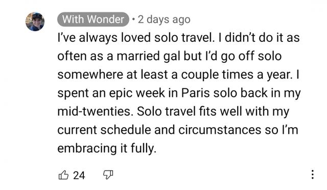 Jen rewrites her solo travel history