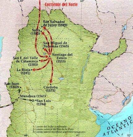 Diego de Rojas ocupa la región del Tucumán