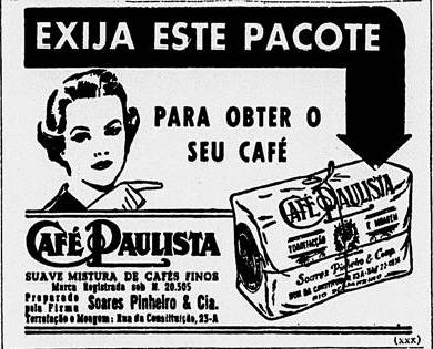 Propaganda Café Paulista