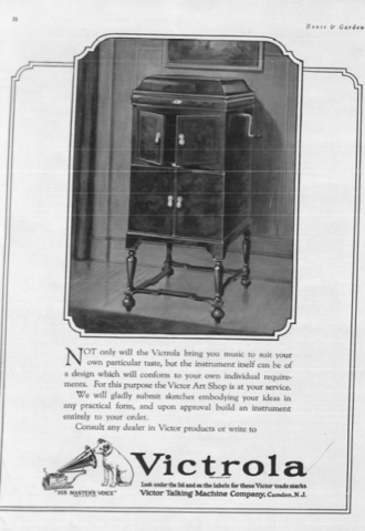 Victor Orthophonic Victrola Phonograph Introduced