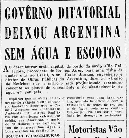 Governo DItatorial Deixou Argentina sem água e esgoto
