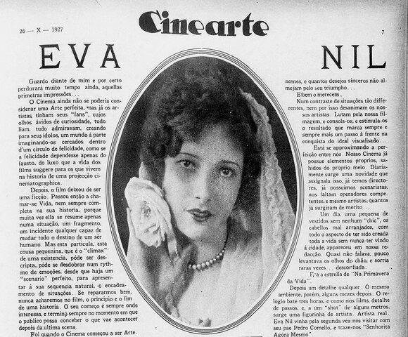 Maior matéria jornalística sobre Eva Nil