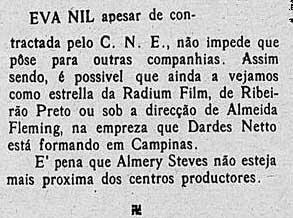 Eva Nil é cotada para participar de várias produções