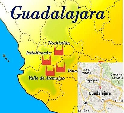 Fundaciones de Guadalajara (Nochistlan, tonala, tlacotan y Valle de Atemajac