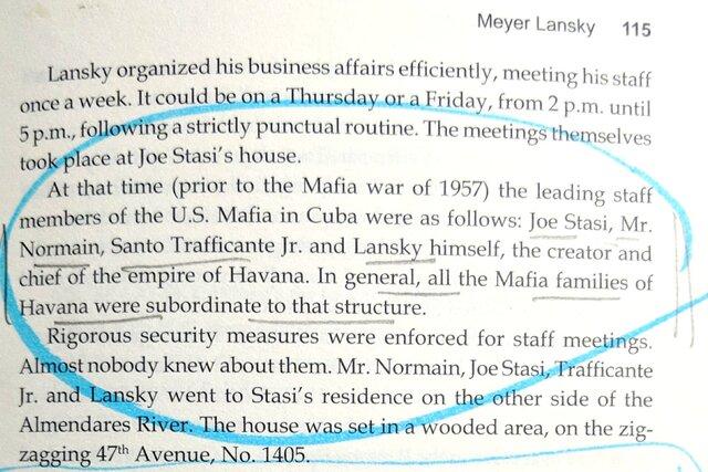 """Mafia War of 1957,"" Lansky and the Havana Crew"