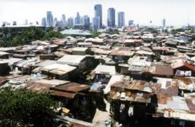 Moves to a slum