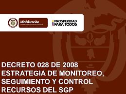 Decreto 028 de 2008