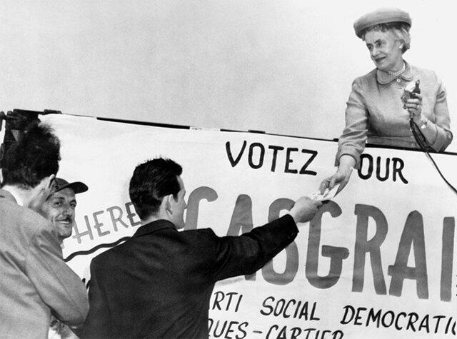 La vie politique du Québec à l'époque de Micheline