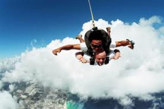 Je vais faire du parachutisme