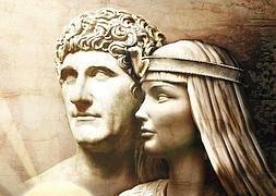 Cleopatra se encuentra con Julio César.