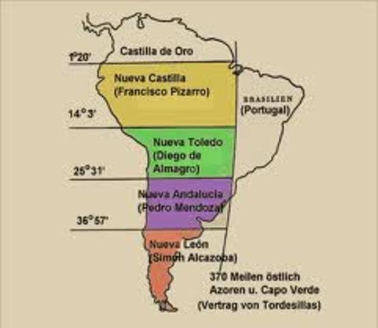 El rey creó tres nuevas goberrnaciones en America del Sur