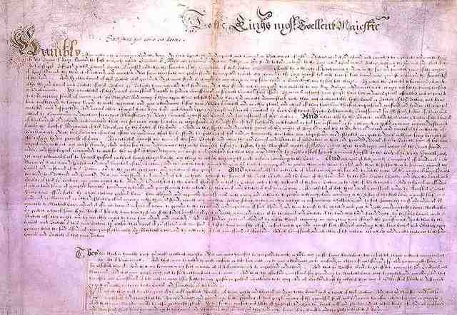 Parliament forces Charles I to agree to the Petition of Right