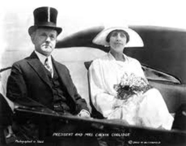 Coolidge was sworn in for a second term