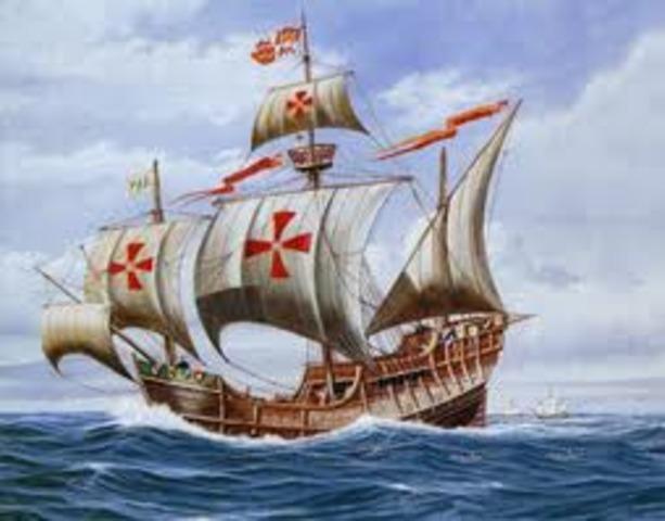 Columbus starts voyage