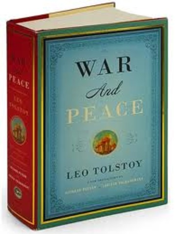 Je lirais War and Peace ( I will read War and Peace)