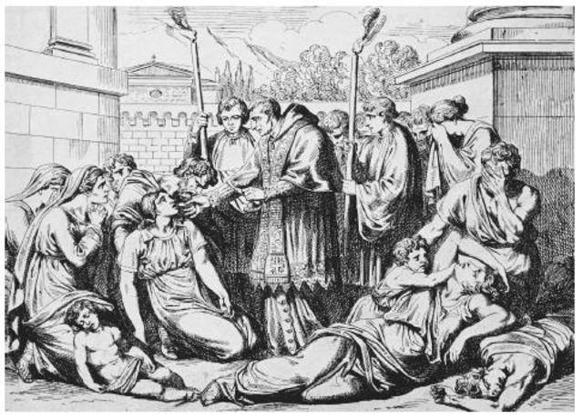 The Bubonic Plague killed 1/3 of Europe's population.