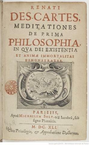 """Descartes publica su libro """"Meditaciones Metafísicas"""""""
