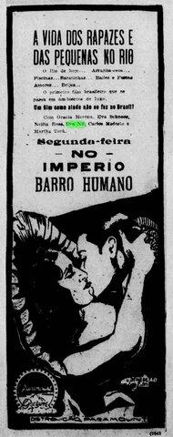 Propaganda de Barro Humano no Jornal do Commercio (RJ)