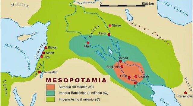 UBICACION TEMPORAL Y TERRITORIAL DE MESOPOTAMIA