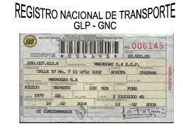 REGISTRO NACIONAL DE TRANSPORTE DE CARGA