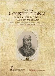 Decreto Constitucional para la libertad de la América Mejicana