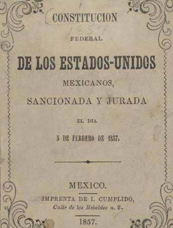Constitución de naturaleza Federal de los Estados Unidos Mexicanos