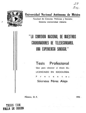 Creación de la Comisión Nacional de Maestros Coordinadores