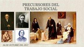 Precursores del trabajo social. timeline