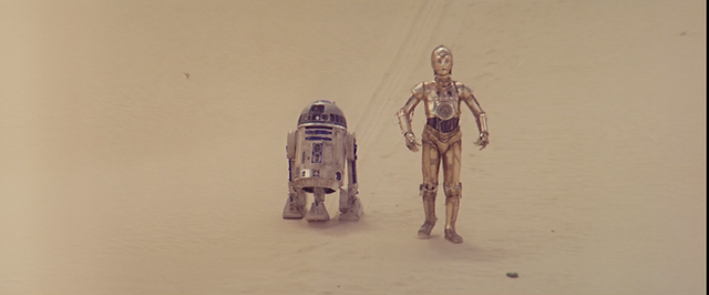 The Droids Land on Tatooine