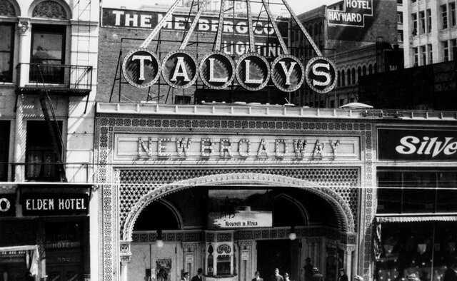 The first electric theater in Los Angeles