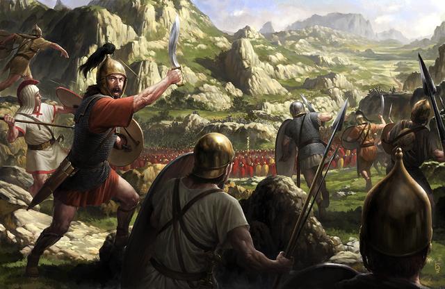 Roma controlava tota la península itàlica.