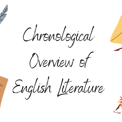 Chronological Overview of English Literature. timeline