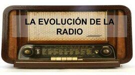 La evolución de la radio. timeline