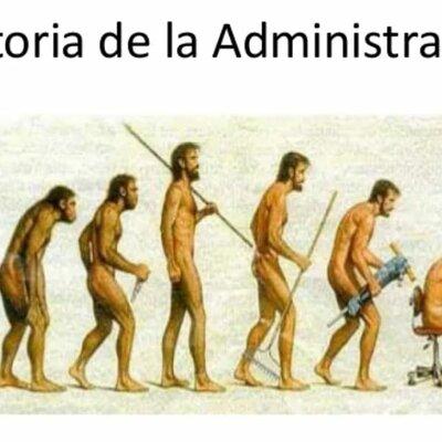 La historia de la administración. timeline