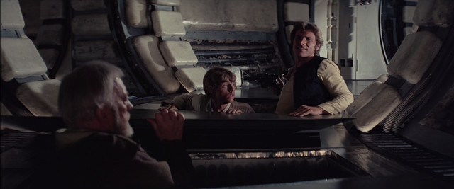 The Millennium Falcon Gets Searched, but No One is Found because they are hiding