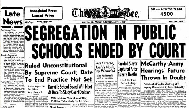 brown vs. the board of education, Topeka